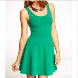 Express Green Skater Dress Size Small Fit Flare